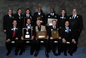 2010 Walter Camp Major Award Winners with Camp Officers